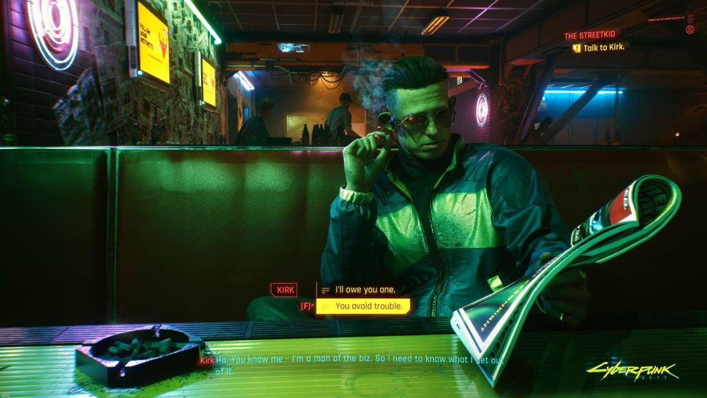 Cyberpunk 2077 Night City Wire сделка с новым поставщиком
