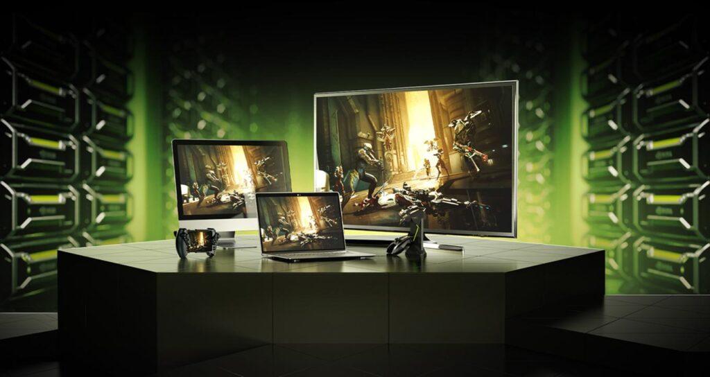 Промо рендер технологий будущего на базе NVIDIA GeForce NOW