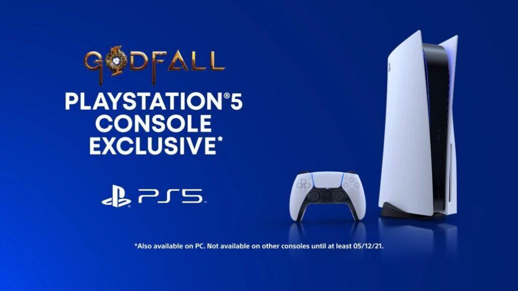 Godfall - эксклюзив PS5 до 12 мая 2021 года.